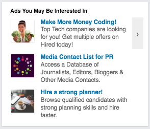 LinkedIn text ads